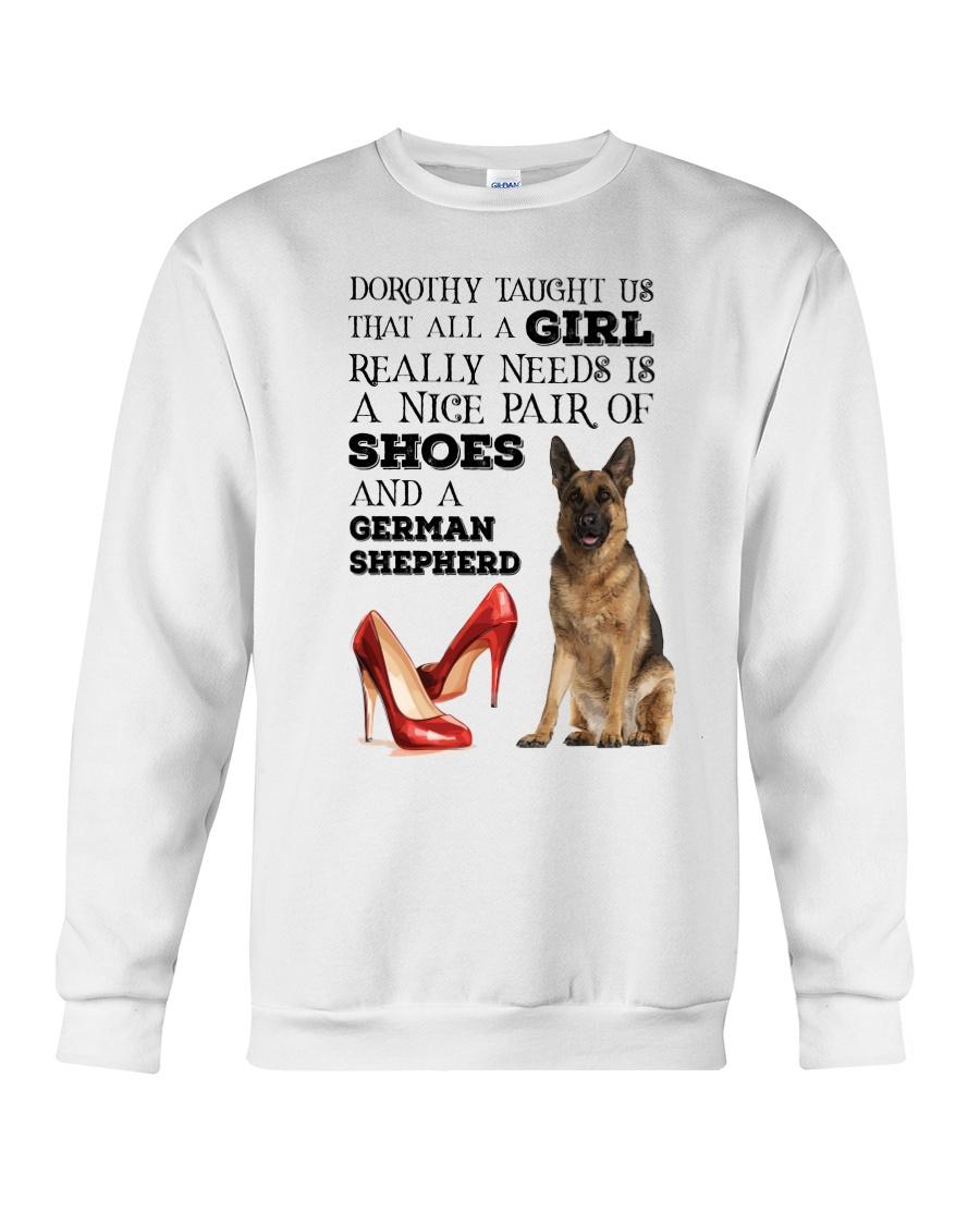 German Shepherd and shoes Crewneck Sweatshirt