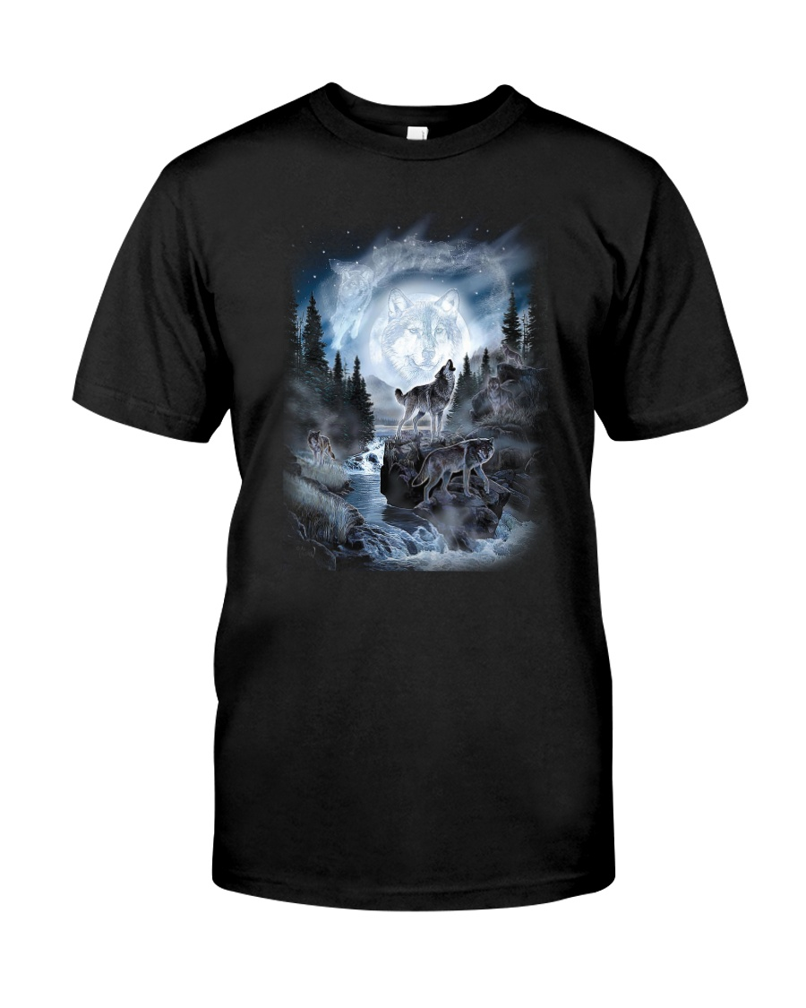 NYX - Alpha Wolf and Moon - 0904 Classic T-Shirt