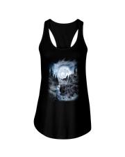 NYX - Alpha Wolf and Moon - 0904 Ladies Flowy Tank thumbnail