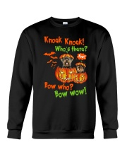 Dog Yorkshire Terrier Bow who Crewneck Sweatshirt front