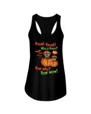 Dog Yorkshire Terrier Bow who Ladies Flowy Tank thumbnail