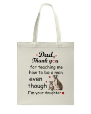 American Staffordshire Terrier Thank You Tote Bag tile