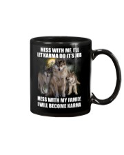 Wolf - Don't mess with my family Mug tile