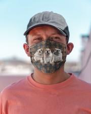 Bulldog Floral Paw H26817 Cloth face mask aos-face-mask-lifestyle-06