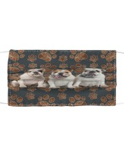 Bulldog Floral Paw H26817 Cloth face mask front