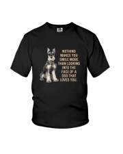 Miniature Schnauzer makes me smile Youth T-Shirt tile