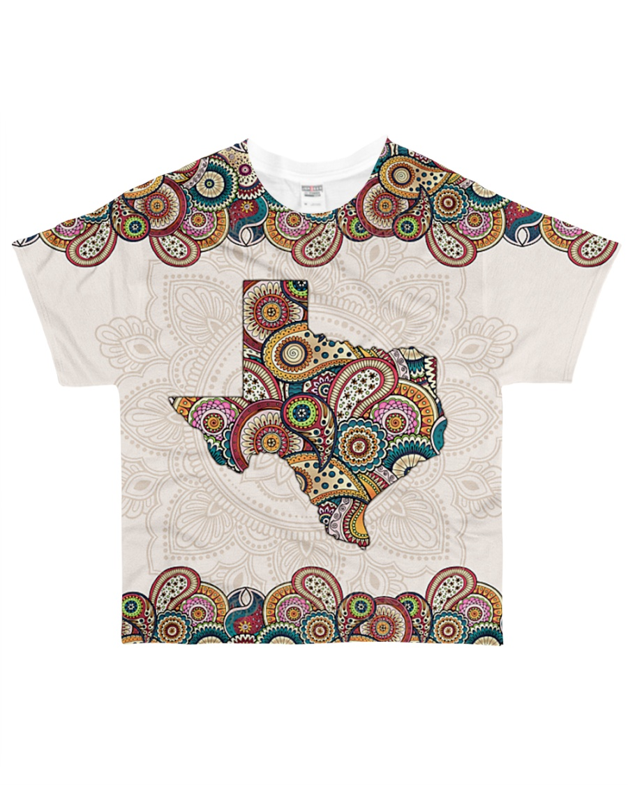 Texas Mandala Pattern T5TO All-over T-Shirt
