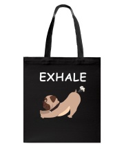 Yoga - Exhale - bulldog Tote Bag thumbnail