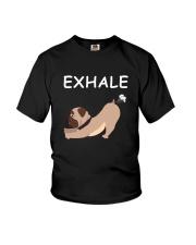 Yoga - Exhale - bulldog Youth T-Shirt thumbnail