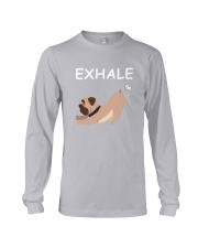 Yoga - Exhale - bulldog Long Sleeve Tee thumbnail