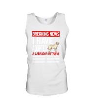 DOGS - LABRADOR RETRIEVER - BREAKING NEWS Unisex Tank thumbnail