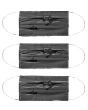 Black Cat Striped T820 Cloth Face Mask - 3 Pack front