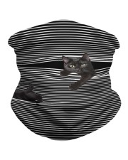 Black Cat Striped T820 Neck Gaiter tile