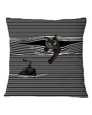 Black Cat Striped T820 Square Pillowcase tile