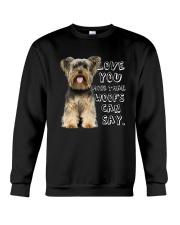Yorkshire Terrier Love You More Than Woofs T5TS Crewneck Sweatshirt thumbnail