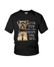 Yorkshire Terrier Love You More Than Woofs T5TS Youth T-Shirt thumbnail