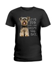 Yorkshire Terrier Love You More Than Woofs T5TS Ladies T-Shirt thumbnail