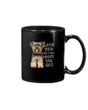 Yorkshire Terrier Love You More Than Woofs T5TS Mug thumbnail