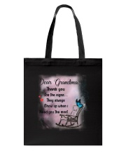 Family Grandma Thank You For The Sign Tote Bag thumbnail