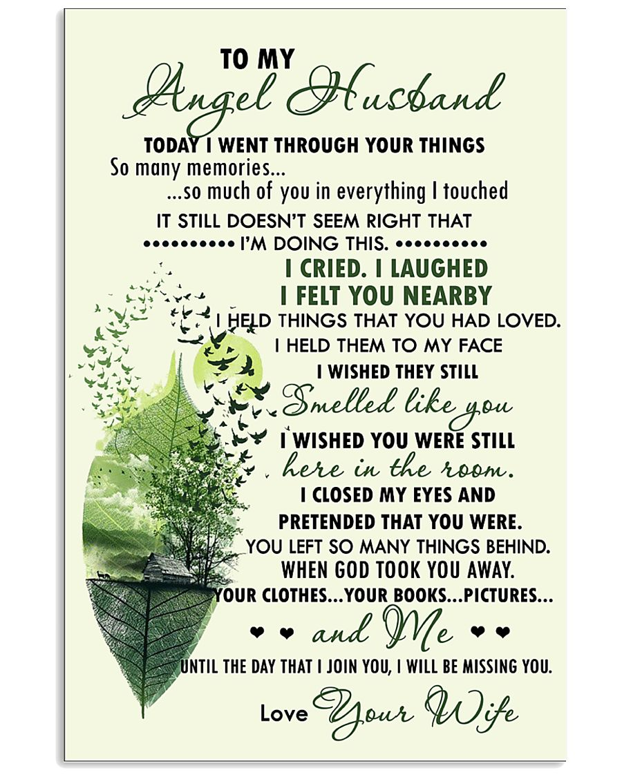 Family - To My Angel Husband Today 11x17 Poster