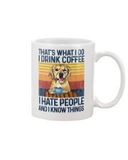 Funny Golden Retriever Drink Coffee Hate People Mug thumbnail