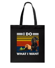 I Do What I Want Dachshund G5930 Tote Bag thumbnail