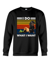 I Do What I Want Dachshund G5930 Crewneck Sweatshirt thumbnail
