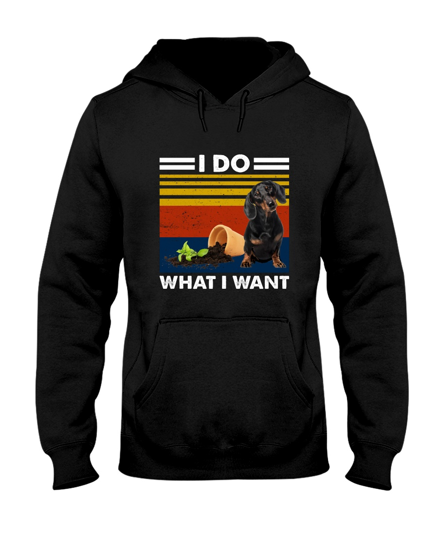 I Do What I Want Dachshund G5930 Hooded Sweatshirt