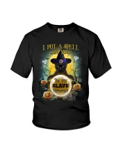 Black cat I put a spell on you Youth T-Shirt thumbnail