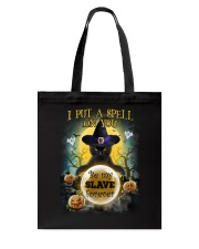 Black cat I put a spell on you Tote Bag front