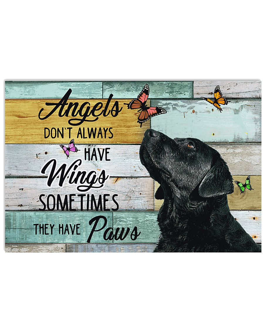 Labrador Retriever Angel 17x11 Poster