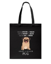 Adopt a senior Pug Tote Bag thumbnail