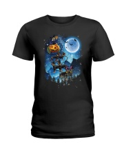 Rottweiler - Witch sleigh Ladies T-Shirt thumbnail