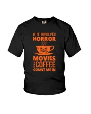 Halloween - Horror coffee Youth T-Shirt thumbnail