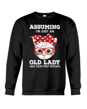 Cat - That was your first mistake Crewneck Sweatshirt thumbnail