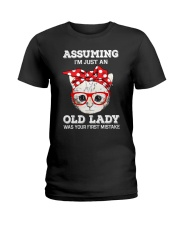 Cat - That was your first mistake Ladies T-Shirt thumbnail