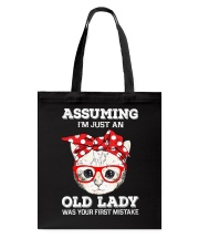 Cat - That was your first mistake Tote Bag thumbnail