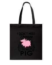 Farm Pig Therapy Tote Bag thumbnail