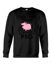 Farm Pig Therapy Crewneck Sweatshirt thumbnail