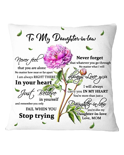 Family To my Daughter in law - Never feel