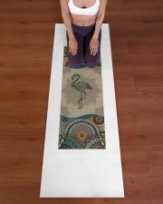 Flamingo Mandala T5TF Yoga Mat 24x70 (vertical) aos-yoga-mat-lifestyle-24
