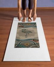 Flamingo Mandala T5TF Yoga Mat 24x70 (vertical) aos-yoga-mat-lifestyle-26