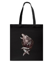 Wolf Howling Dreamcatcher Tote Bag thumbnail