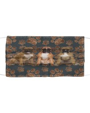 Boxer Floral Paw H25835 Cloth face mask front