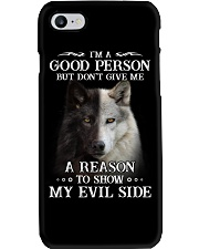 Wolf - Don't make me show my evil side Phone Case thumbnail