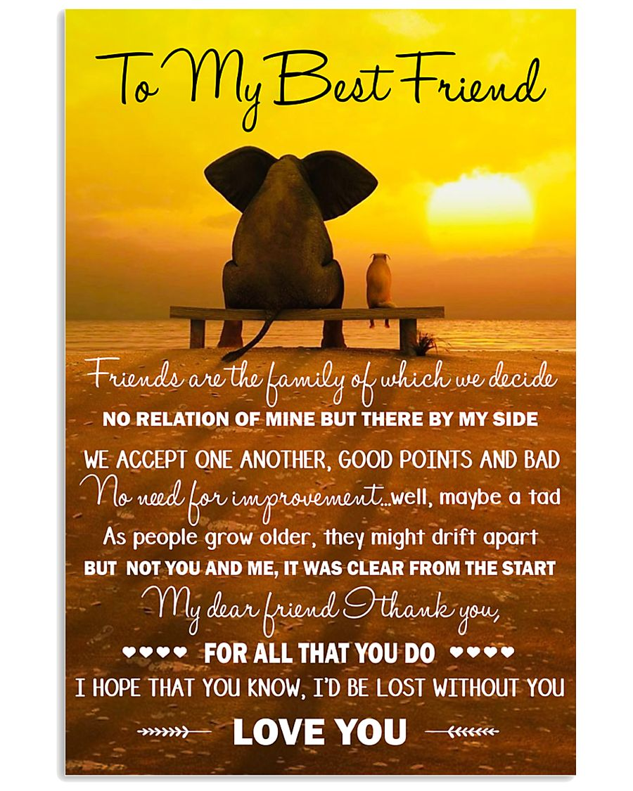 Family - To My Best Friend 11x17 Poster