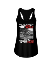 THE STRENGTH OF WOLF IS THE PACK Ladies Flowy Tank thumbnail
