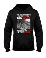 THE STRENGTH OF WOLF IS THE PACK Hooded Sweatshirt thumbnail