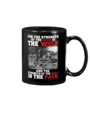 THE STRENGTH OF WOLF IS THE PACK Mug thumbnail
