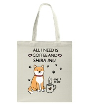 Coffee and Shiba Inu Tote Bag thumbnail